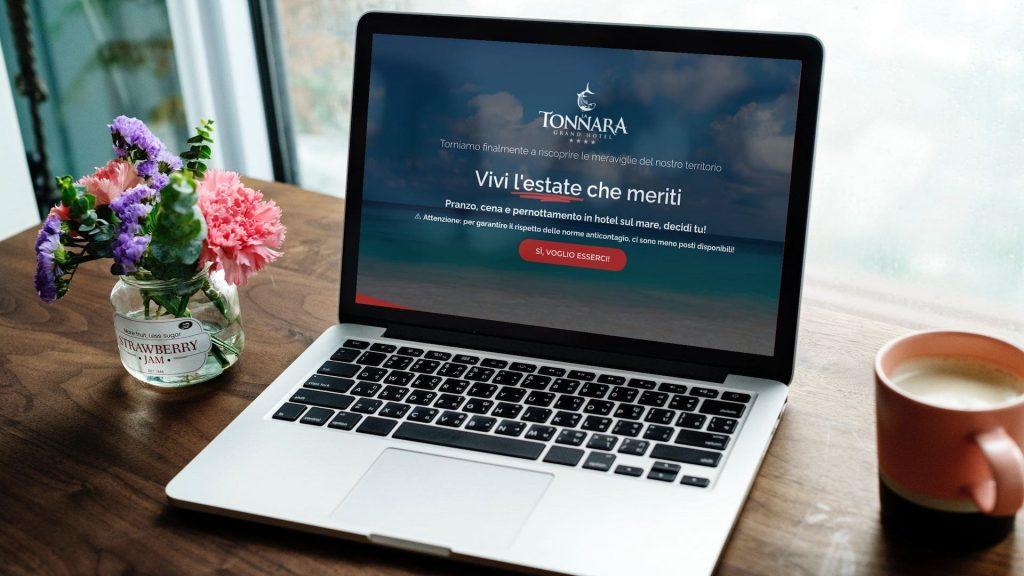 Landing page per Grand Hotel La Tonnara